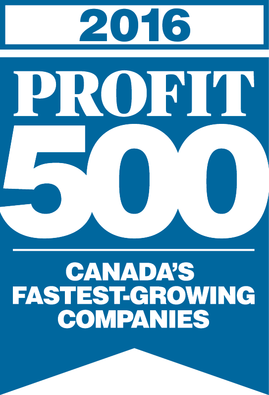 2016 Profit 500 Canada's Fastest-Growing Companies Award